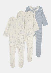 Marks & Spencer London - BABY ORGANIC 3 PACK - Sleep suit - blue - 0
