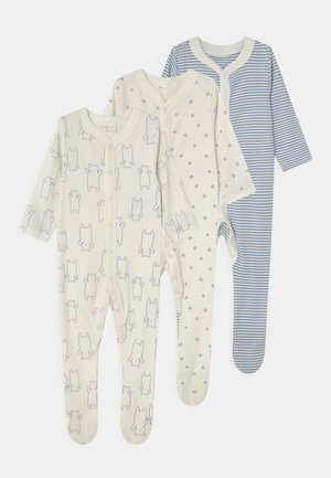 BABY ORGANIC 3 PACK - Pijama de bebé - blue