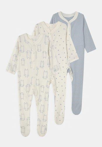 BABY ORGANIC 3 PACK - Sleep suit - blue
