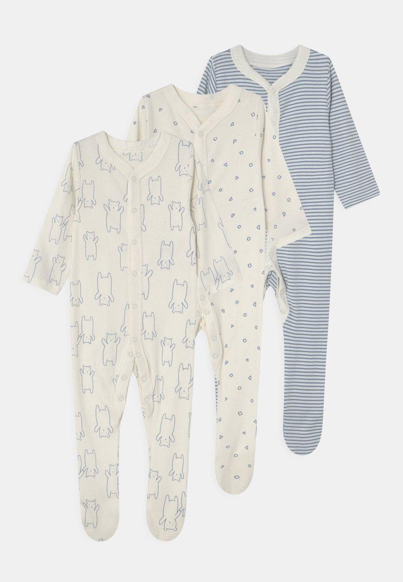 Marks & Spencer London - BABY ORGANIC 3 PACK - Sleep suit - blue