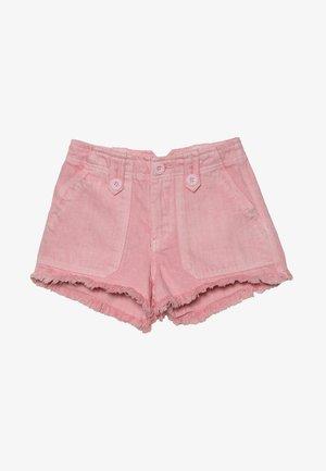 UTILITY POCKET BUTTON - Denim shorts - bright pink
