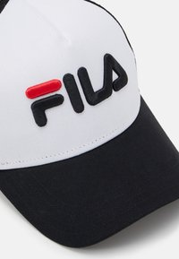 Fila - TRUCKER LINEAR LOGO SNAP BACK UNISEX - Kšiltovka - black/bright white