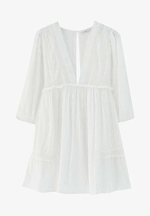 MIT SPITZE - Day dress - white