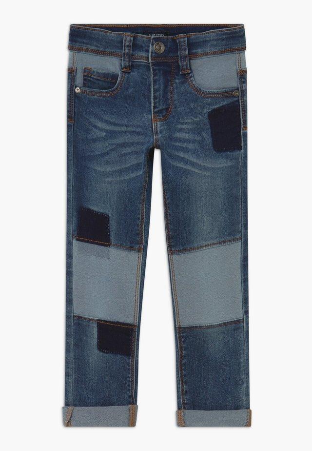 KIDS DENIM PATCHWORK - Jeans slim fit - blue denim