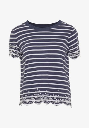 SUMMER SCHIFFLI TEE - Camiseta estampada - navy