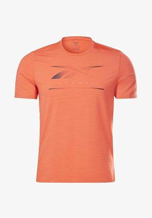 ACTIVCHILL MOVE T-SHIRT - Print T-shirt - orange