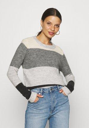VMPLAZA BLOCK - Pullover - light grey melange