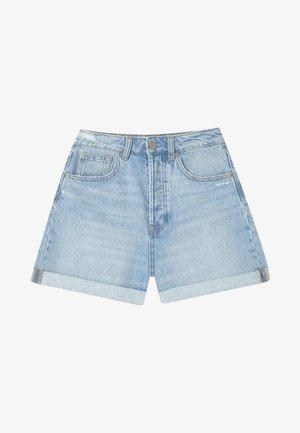 MOM-FIT - Denim shorts - dark blue
