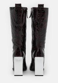 Topshop - TANGO LEG HARDWARE BOOT - High heeled boots - burgundy - 3