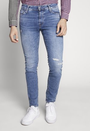 JJIGLENN JJORG - Slim fit jeans - blue denim