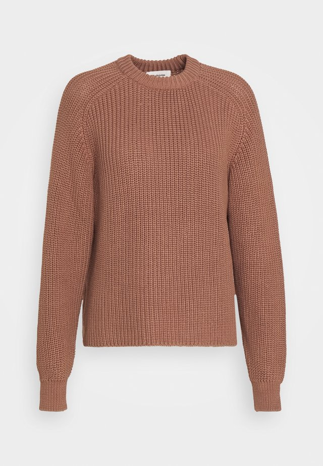 ETTA O-NECK - Pullover - raw umber