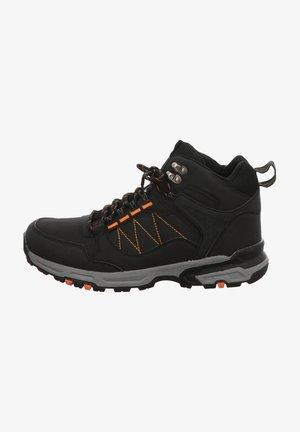 High-top trainers - black/ orange
