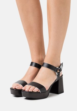 ANKLE STRAP  - Platform sandals - black