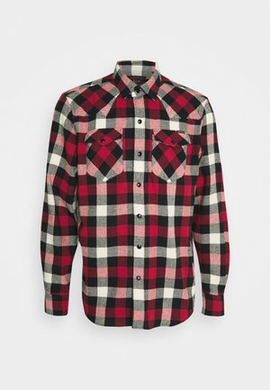 WESTERN - Shirt - off white/red/black