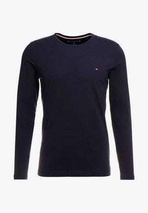 STRETCH SLIM FIT LONG SLEEVE TEE - Långärmad tröja - blue