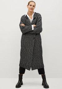 Mango - BONE - Classic coat - schwarz - 1