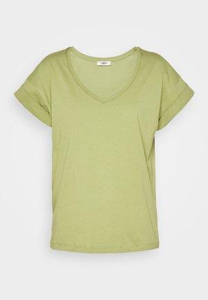 ALVA V NECK TEE - Basic T-shirt - sage