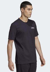 adidas Performance - ESSENTIALS PLAIN T-SHIRT - Basic T-shirt - black - 4