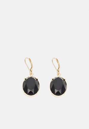 STONE DROP - Earrings - gold-coloured/black