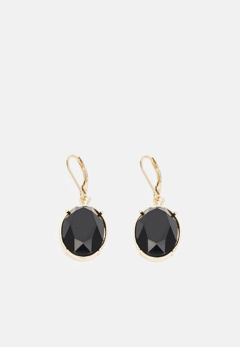 Lauren Ralph Lauren - STONE DROP - Earrings - gold-coloured/black