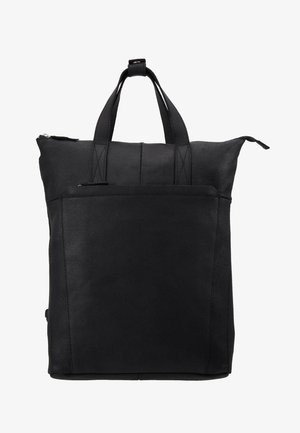 UNISEX -LEATHER - Rucksack - black