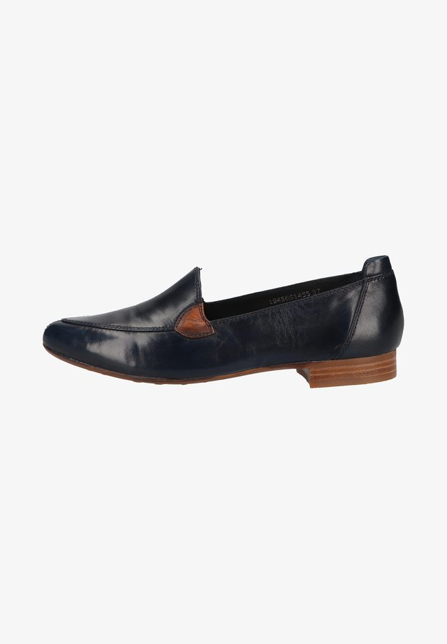 Loafers - glove blu/ vegetale cuoio