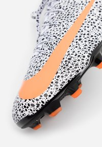 Nike Performance - MERCURIAL 7 ACADEMY CR7 FG/MG - Moulded stud football boots - white/total orange/black - 5