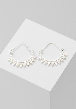 EARRINGS KIKU - Pendientes - silver-coloured