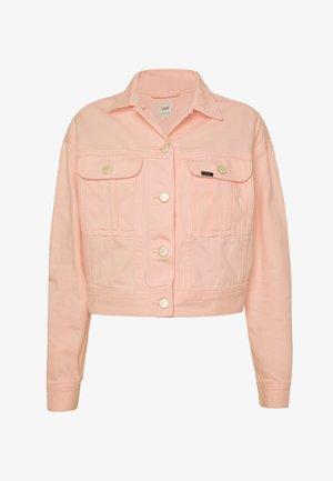 CROPPED JACKET - Veste en jean - crystal pink