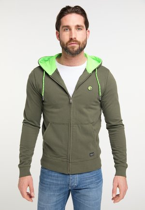 Zip-up sweatshirt - dark army