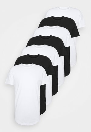 JJENOA TEE CREW NECK 7 PACK - T-shirts - white