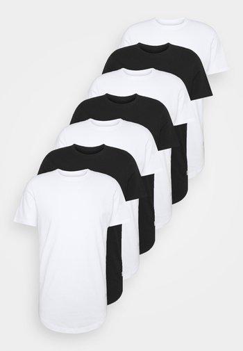 JJENOA TEE CREW NECK 7 PACK - T-shirt - bas - white