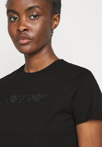 KARL LAGERFELD - RHINESTONE LOGO  - Print T-shirt - black - 3