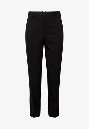 MIT GALONSTREIFEN - Trousers - black