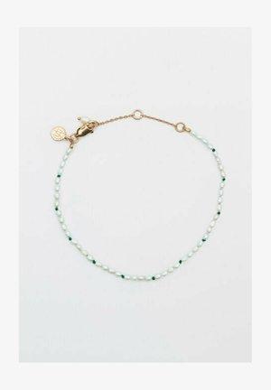 NATURPERLEN UND Grün GARN - Bracelet - gold