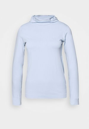 COMET SEAMLESS HOODIE - Langærmede T-shirts - kentucky blue/artic ice