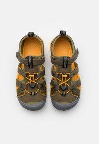 Keen - SEACAMP II CNX UNISEX - Walking sandals - military olive/saffron - 3
