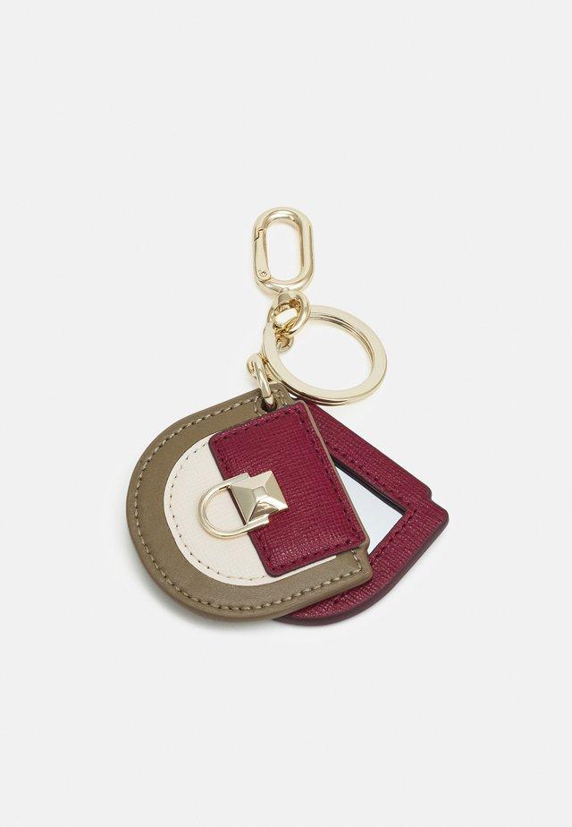 VENUS KEYRING MISS MIMI MIRROR - Schlüsselanhänger - ciliegia/pergamena/fango