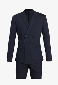 Isaac Dewhirst - DOUBLE BREASTED PLAIN SLIM FIT SUIT - Completo - navy - 10