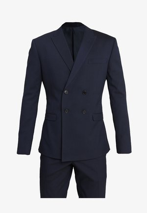 DOUBLE BREASTED PLAIN SLIM FIT SUIT - Kostym - navy