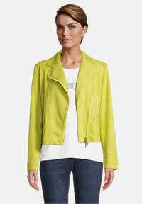 Betty Barclay - Faux leather jacket - yellow - 0