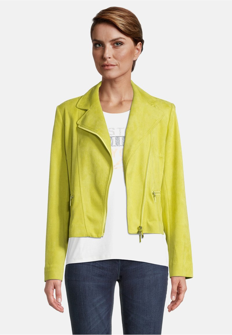 Betty Barclay - Faux leather jacket - yellow
