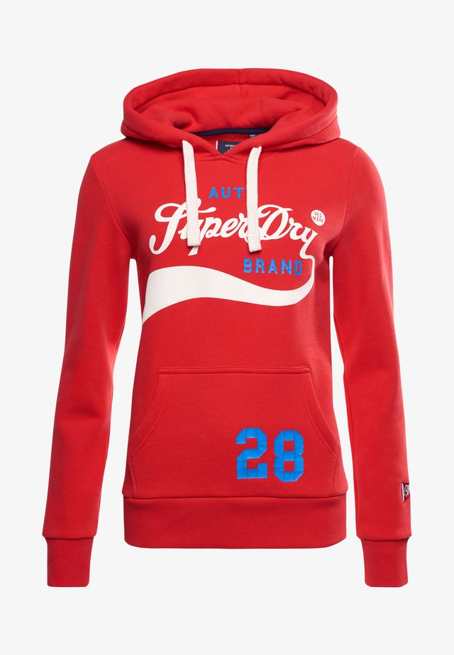 COLLEGIATE CALI GRAPHIC - Hoodie - drop kick red