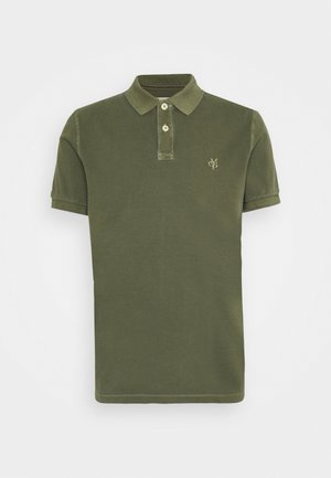 SHORT SLEEVE BUTTON PLACKET - Polo shirt - dried herb