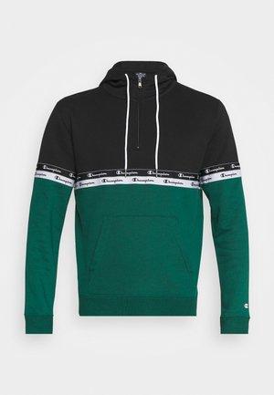 HOODED - Sweatshirt - green/black