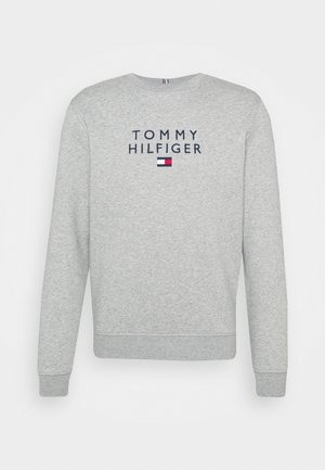 STACKED FLAG CREWNECK - Sweatshirt - medium grey heather