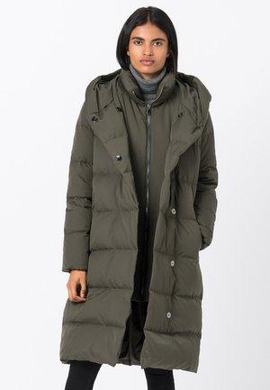 Down coat - dunkel oliv