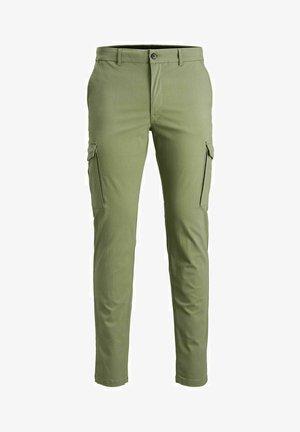 Cargo trousers - deep lichen green