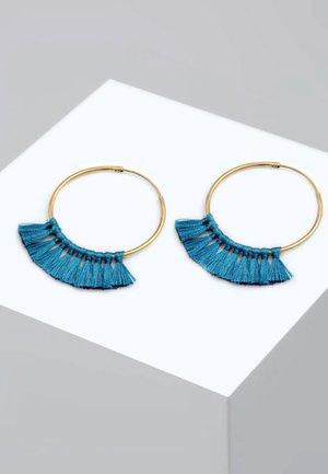BOHO - Boucles d'oreilles - blue