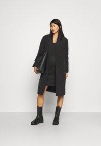 ONLY - OLMTRILLION LONG COATIGAN - Classic coat - black - 1